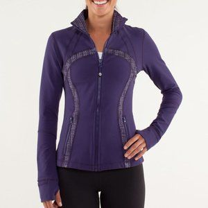 LULULEMON 8 dense purple ziggy wee define jacket